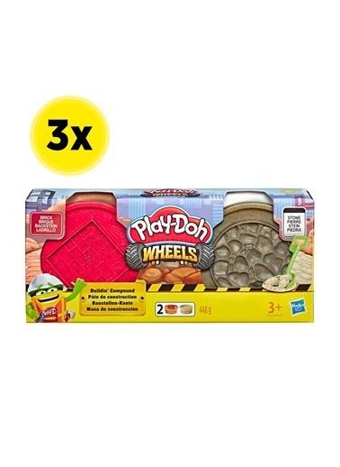 Hasbro Play-Doh İnşaat Hamuru - Tuğla Ve Taş X 3 Adet Renkli